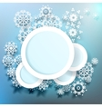 Design with snowflakes and space for text EPS 10 vector image