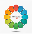 polygonal circle chart infographic template with vector image
