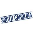 south carolina blue square stamp vector image