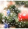 Winter Christmas Blurred Glow Snowflakes vector image