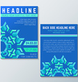 blue green abstract flyer poster template vector image