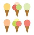 Set of ice cream vector image