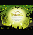 a seamless happy halloween vector image