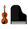 Isolated image of violin and grand piano vector image