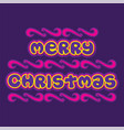 merry christmas poster design vector image