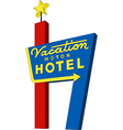 motel sign vector image