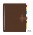note book with pencil vector image