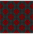 Seamless geometric abstract polka dot pattern vector image