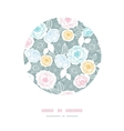 Silver and colors florals circle decor background vector image