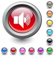 Sound round button vector image