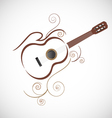 Stylized guitar logo vector image