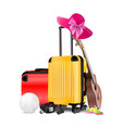 travel equipment vector image