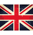 vintage great britain flag vector image vector image