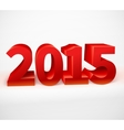 New year 2015 shiny 3d red vector image