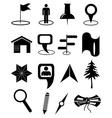 Map navigation icons set vector image