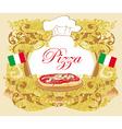Pizza Menu Template Vintage Card vector image vector image