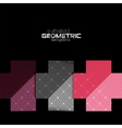Colorful geometric shapes with texture on black vector image vector image