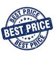 best price blue grunge round vintage rubber stamp vector image