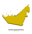 Isometric map of United Arab Emirates detailed vector image vector image
