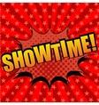 Showtime comic cartoon text vector image