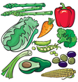 Diet products icon set vector image
