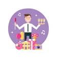 Event Manager and Party Objects vector image