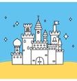 Hand drawn doodle castle vector image