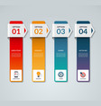 Infographic template with 4 arrows options vector image