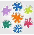 Ink blots stickers vector image