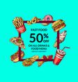 sale with colored hand drawn vector image