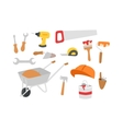 Construction instruments tools set vector image