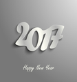 Abstract New Year card on a grey background vector image vector image