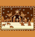 Gingerbread Nativity scene vector image