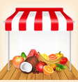 fruits market concept vector image