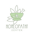 homeopathi center logo symbol vector image