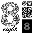 eight vector image vector image