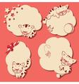 cartoon kitten frames vector image vector image