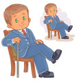 a little boy dressed in vector image