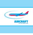 Aircraft - logo concept vector image