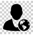 international manager icon vector image