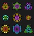 sacred geometric futuristic design elements vector image