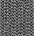 Seamless Ribbing Stitch silhouettes pattern vector image