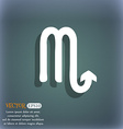 Scorpio icon On the blue-green abstract background vector image