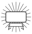 cute label banner vector image