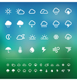 Retina weather icon set vector image vector image