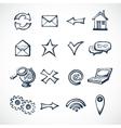 Internet sketch icons vector image