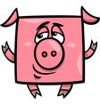 square pig cartoon vector image