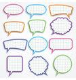 set of colorful paper speech bubbles vector image