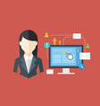 Office Worker concept vector image