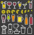 Beverage thin line symbol icon vector image vector image